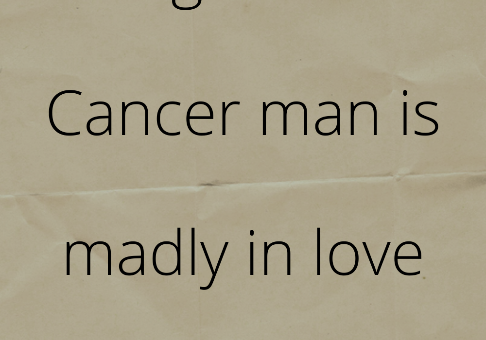 15 signs that a Cancer man is madly in love with you