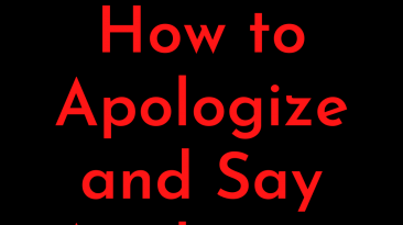 How to apologize and say apologize for a lover