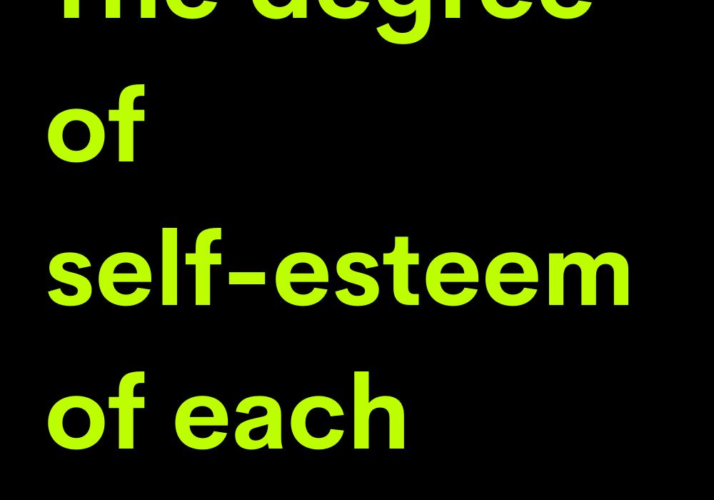 The degree of self-esteem of each zodiac sign